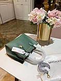 Сумка Майкл Корс, натуральна шкіра, колір зелений, фото 4