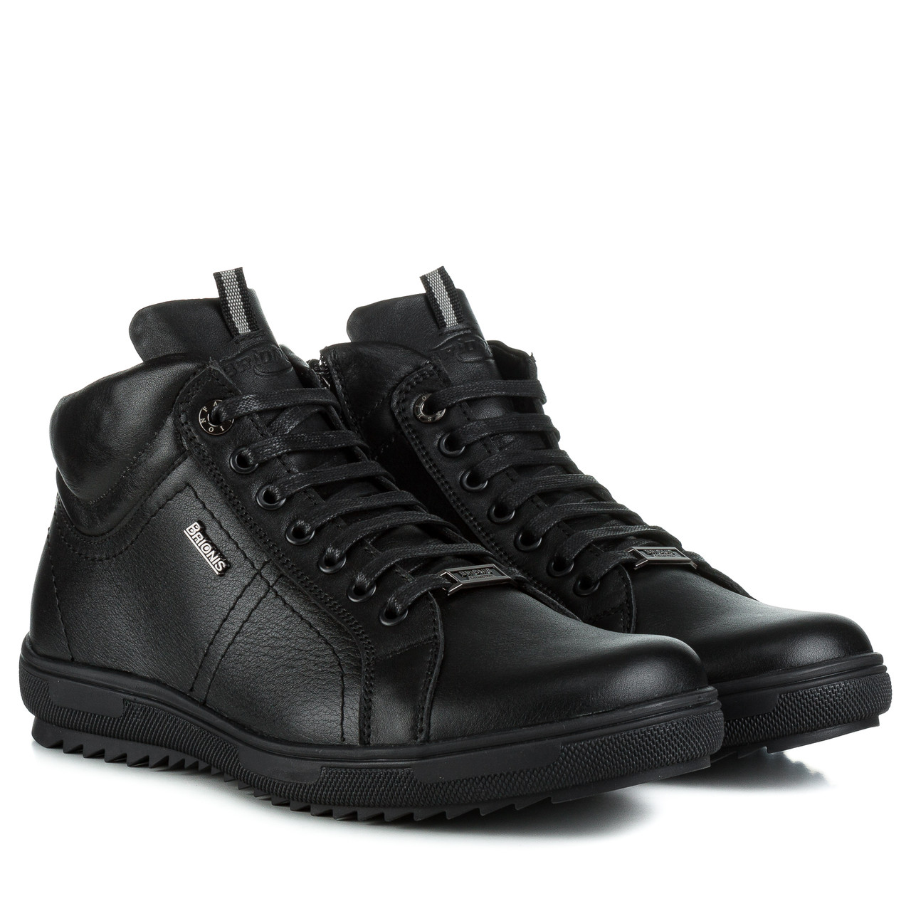 Ботинки женские BRIONIS (черные, кожаные, удобные)