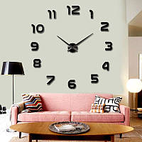Настенные 3D часы 4202 Черные (16-4202-2)