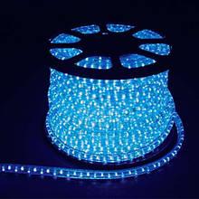 Дюралайт-лента 120LED IP68 синяя 2835SMD 230V 10W/м 720LM Синияя