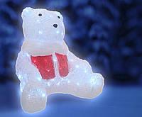 Светодиодное украшение Медведь Lumion 80 led для внутреннего использования акриловая белая колба