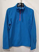 Спортивная толстовка на девочку, цвет голубой, размер 158/164