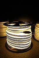 Уличный световой шнур Lumion 220V SUPER SMD NEON FLEX 8*16мм, 92 светодиода/м.п., 50м/ рул цвет белый теплый
