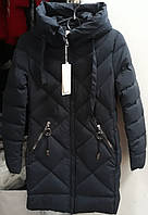 Куртки женские зима темно- синяя.