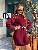 Вязаное платье-туника, фото 1