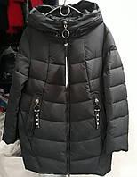 Куртки женские зима чёрная Размер 52