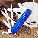 Нож складной, мультитул Victorinox HUNTSMAN (91мм, 15 функций), синий прозр. 1.3713.Т2, фото 5