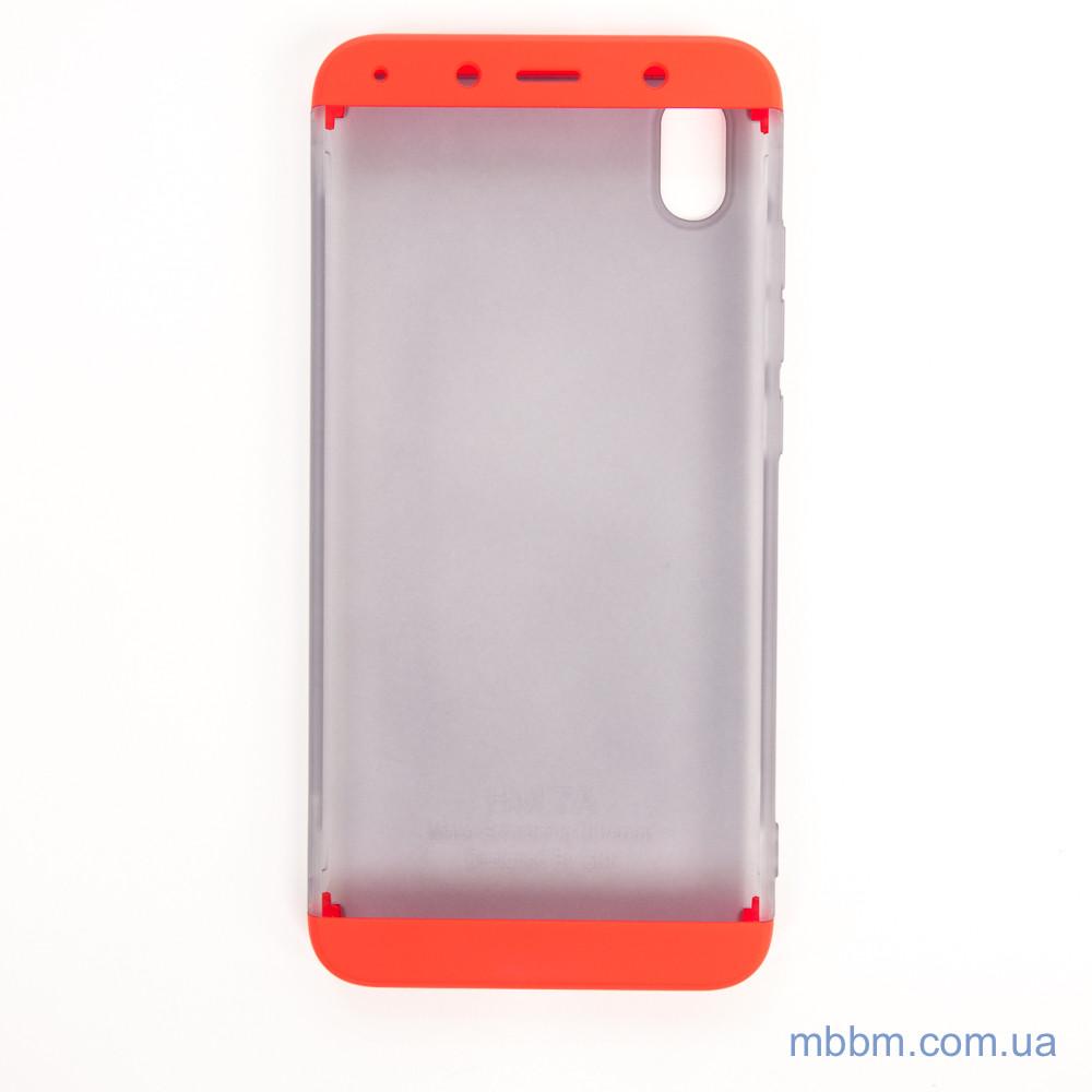 Чохол GKK LikGus 360 * матова Xiaomi Redmi 7A Red / Transparent