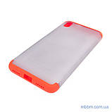 Чохол GKK LikGus 360 * матова Xiaomi Redmi 7A Red / Transparent, фото 3