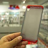 Чохол GKK LikGus 360 * матова Xiaomi Redmi 7A Red / Transparent, фото 7