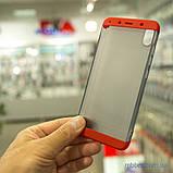 Чохол GKK LikGus 360 * матова Xiaomi Redmi 7A Red / Transparent, фото 8