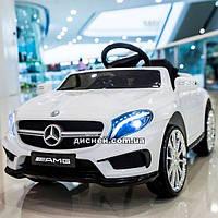 Детский электромобиль M 3995 EBLR-1 с кожаным сиденьем, белый
