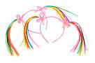 Ободок детский для девочки с цветными волосами, фото 3