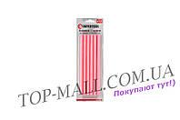 Клеевые стержни Intertool - 11,2 x 200 мм, розовые (12 шт.)