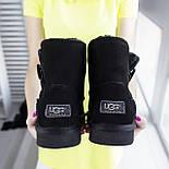 Австралийские угги женские UGG Australia Classic Mini черные. Живое фото. Реплика, фото 2