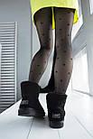 Австралийские угги женские UGG Australia Classic Mini черные. Живое фото. Реплика, фото 9