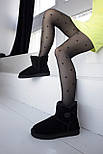 Австралийские угги женские UGG Australia Classic Mini черные. Живое фото. Реплика, фото 10