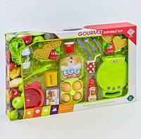 Вафельница игрушечная с продуктами, световые и звуковые эффекты