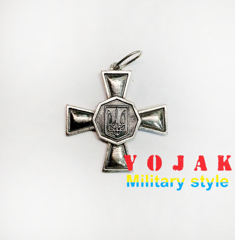"Кулон серебряный ""Крест НГУ"""