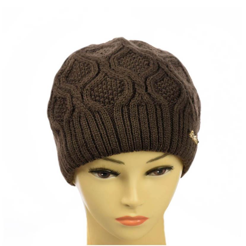 """Женская двухслойная шапка  """"Нина"""""""