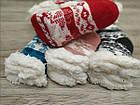 Детский вязанный носок с набивкой внутри + силиконовые тормоза КОРОНА 300-3 термо 27-30р ассорти НДЗ-070818, фото 2