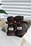 Австралийские угги женские UGG Australia Mini Bailey Bow с бантом шоколадные 36-40. Живое фото. Реплика, фото 2