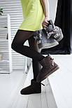 Австралийские угги женские UGG Australia Mini Bailey Bow с бантом шоколадные 36-40. Живое фото. Реплика, фото 5