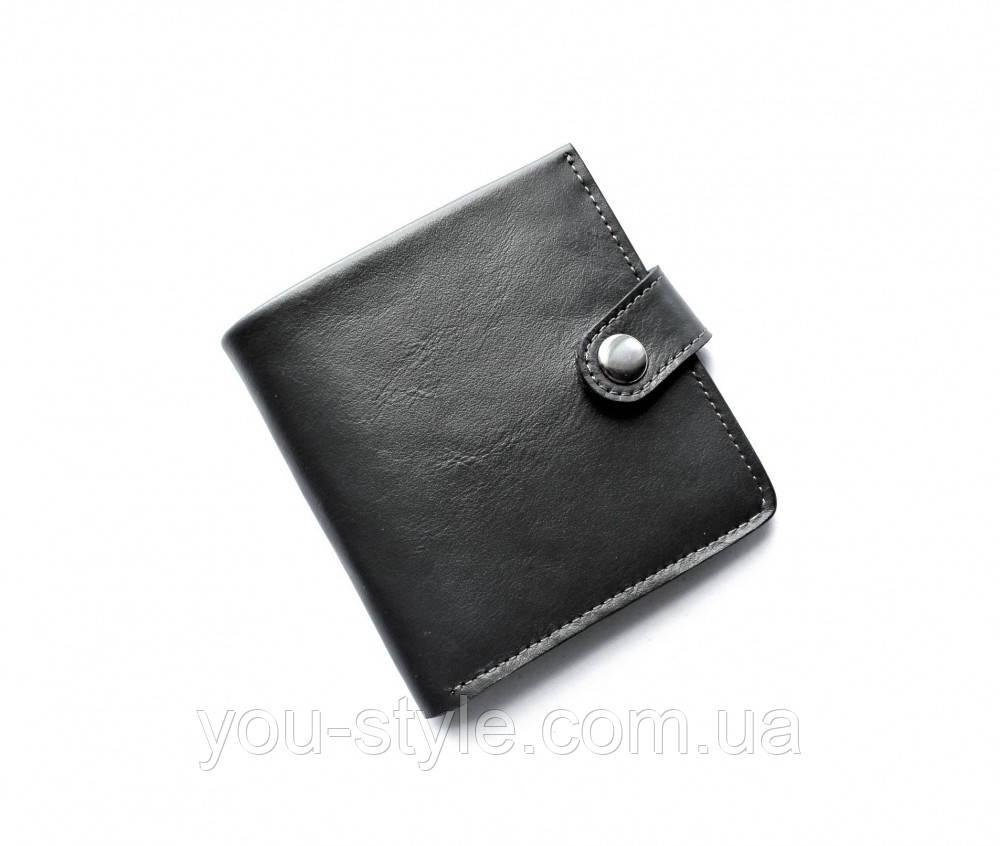 """Кожаный кошелек мужской """"Lato_oscuro"""" черный"""