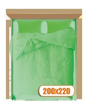 Двуспальный комплект с простынью 200х220