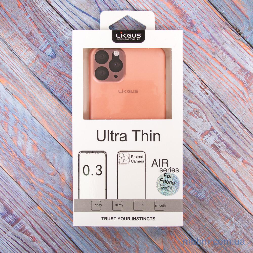 "Чохол LikGus Ultrathin 0.3mm iPhone 11 Pro {5.8 ""} Pink"