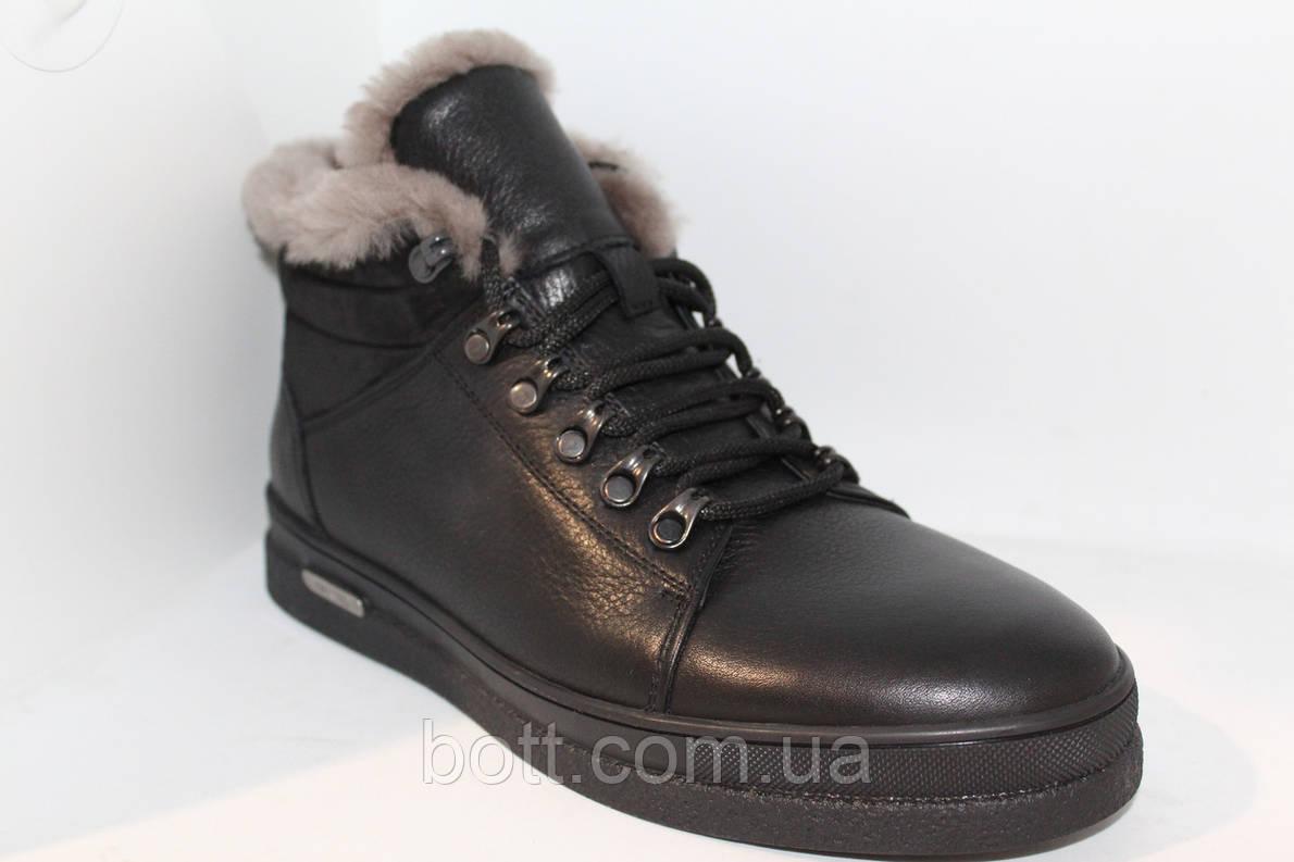 Ботинки кожаные черные, фото 2