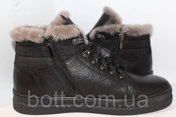 Ботинки кожаные черные, фото 3