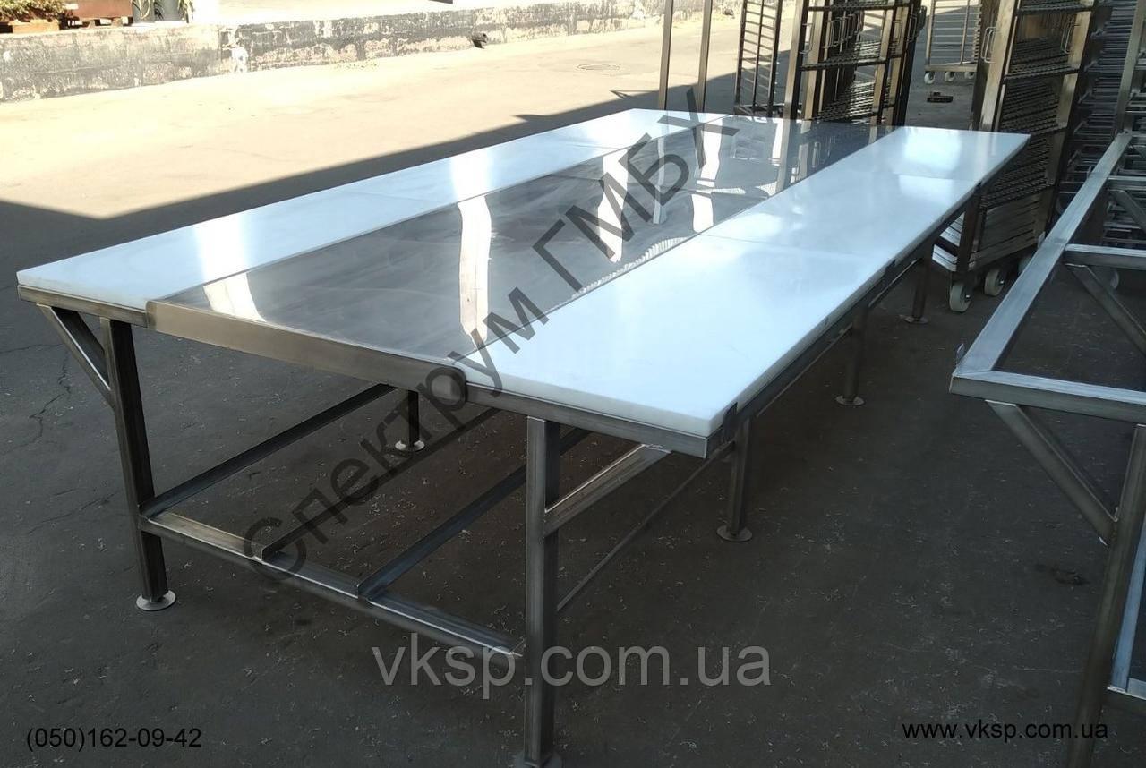 Усиленный обвалочный стол из нержавеющей стали