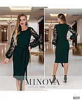 Платье №17690-темно-зеленый