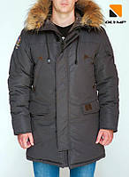 Зимняя мужская парка куртка Olymp – Montana , Color: Gray