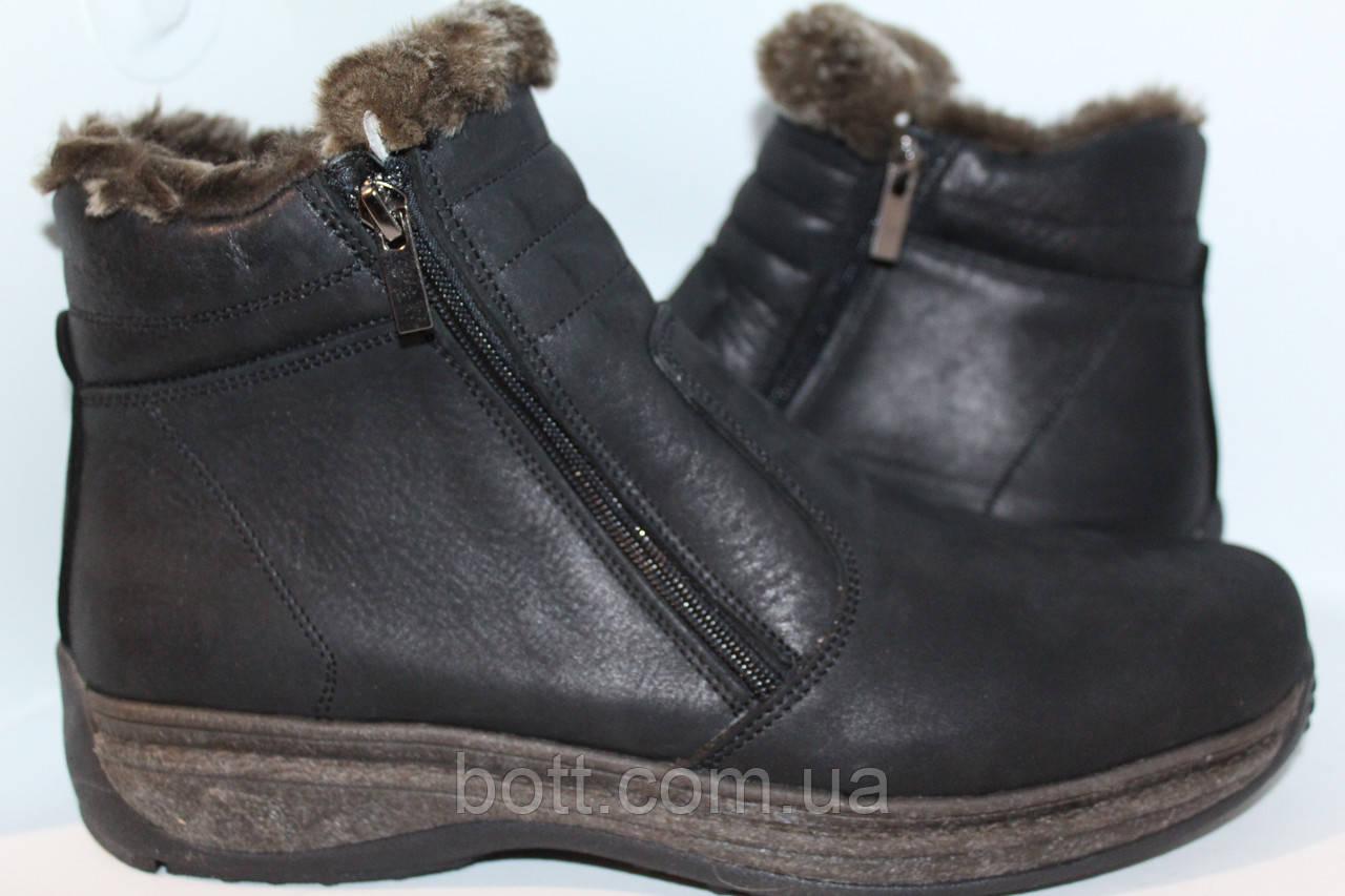 Ботинки мужские зима черные