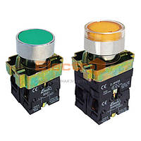 Кнопка ВА31 зеленая 22mm NO + NC с подсветкой Electro