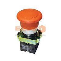 Кнопка-грибок с фиксатором ВS542 красная 40mm NO + NC Electro