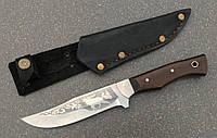 Нож туристический Украина Олень кожаные ножны, деревянная рукоять (длина клинка 162 мм), фото 1