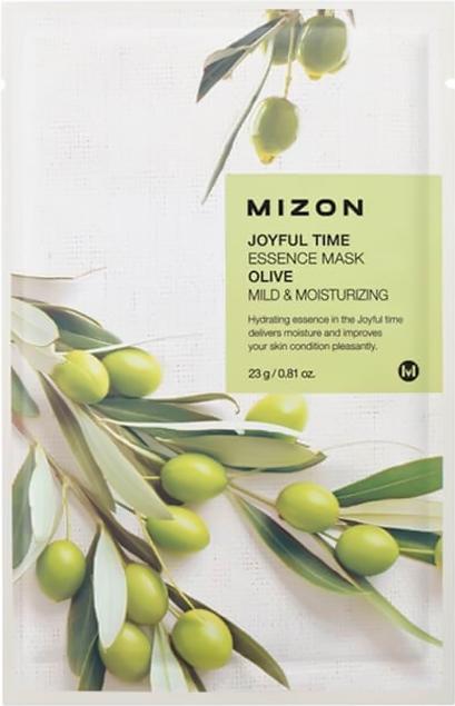 Зволожуюча тканинна маска для обличчя Mizon Joyful Time Essence Mask Олива 25 мл