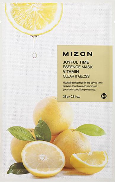Увлажняющая тканевая маска для лица Mizon Joyful Time Essence Mask Витамин C