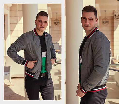 Мужская куртка с комбинированными вставками, фото 2