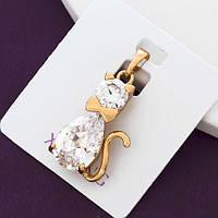 Кулон котик xuping подвеска с цирконием  2.5см 5214