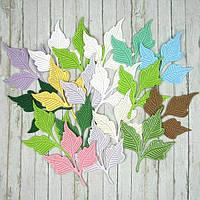 """Набор вырубки из плотного картона """"Листья"""", 17 элементов"""