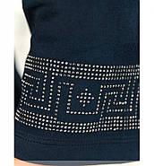 / Размер 54,56 / Женское минималистичное праздничное платье батал 18-56-Темно-Синий, фото 4