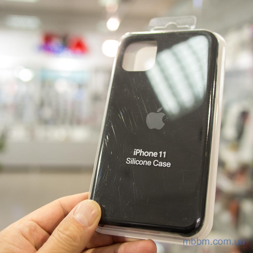 Накладка Apple Silicone Case iPhone 11 Black