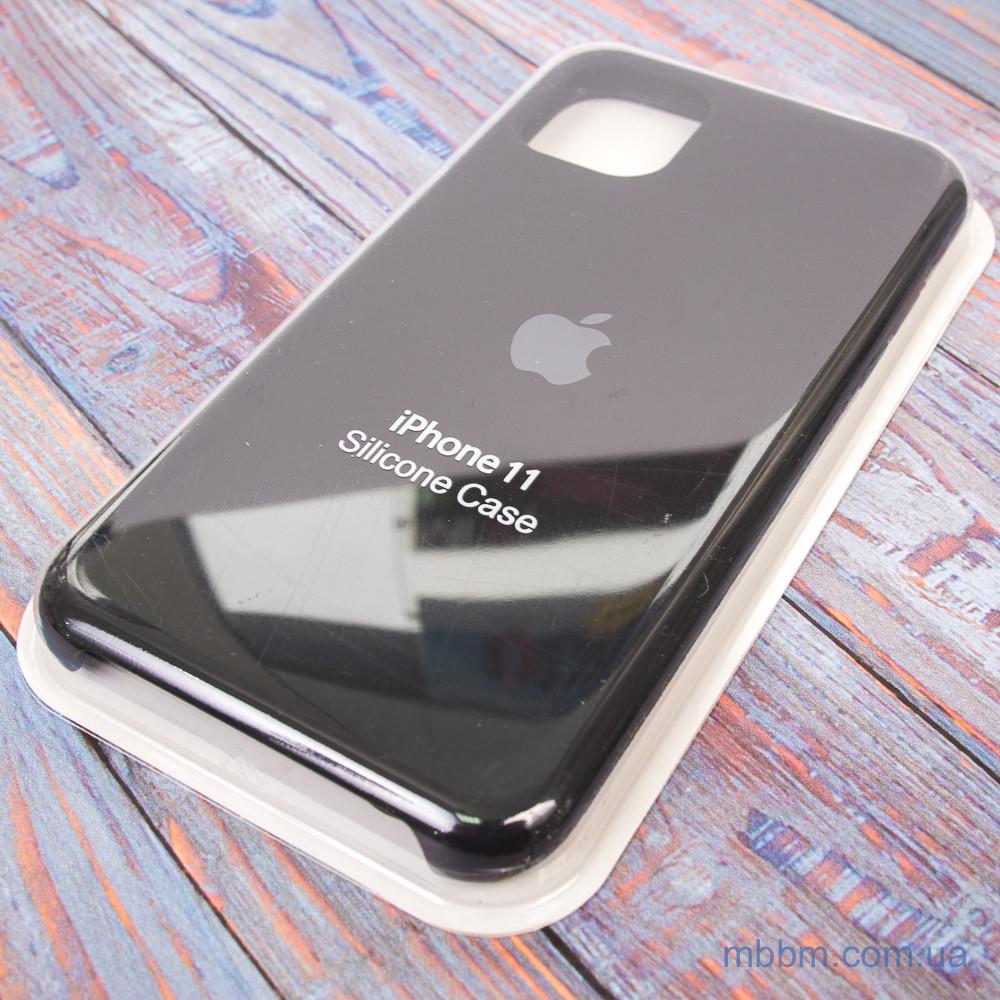 """Накладка Apple Silicone Case iPhone 11 {6.1""""} Black [копия]"""
