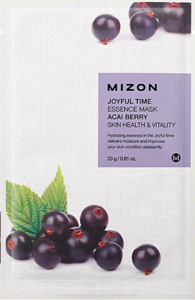Увлажняющая тканевая маска для лица Mizon Joyful Time Essence Mask ягоды Асайи 25 мл