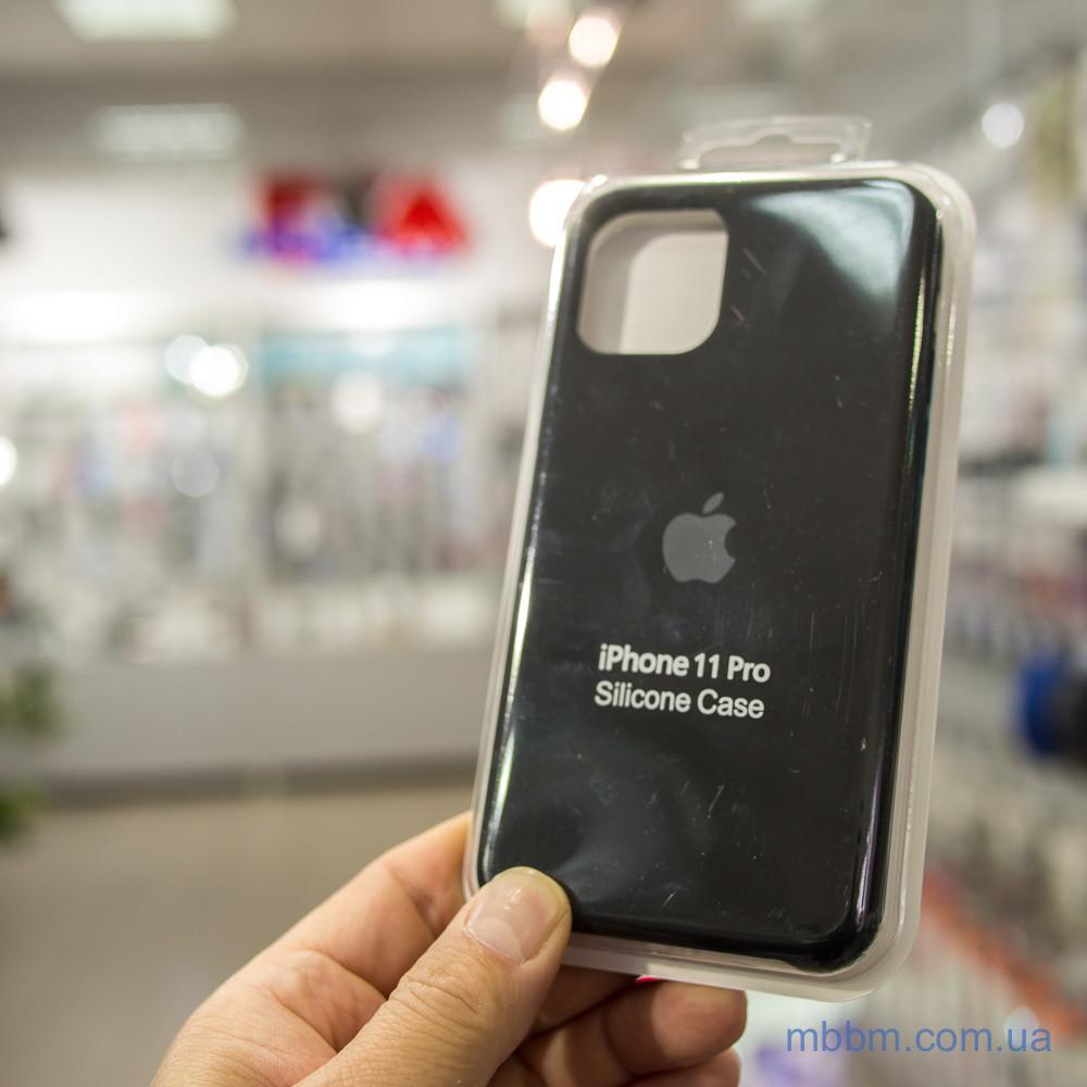 """Накладка Apple Silicone Case iPhone 11 Pro {5.8 """"} Black [копія]"""