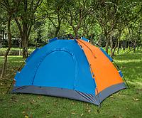Туристическая палатка автомат  Leomax  2*1,5 метра, 2-х местная, Синяя